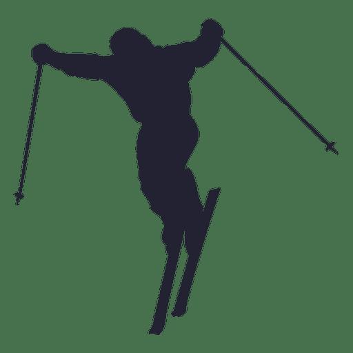 Silhueta de jogador de esqui 1 Transparent PNG