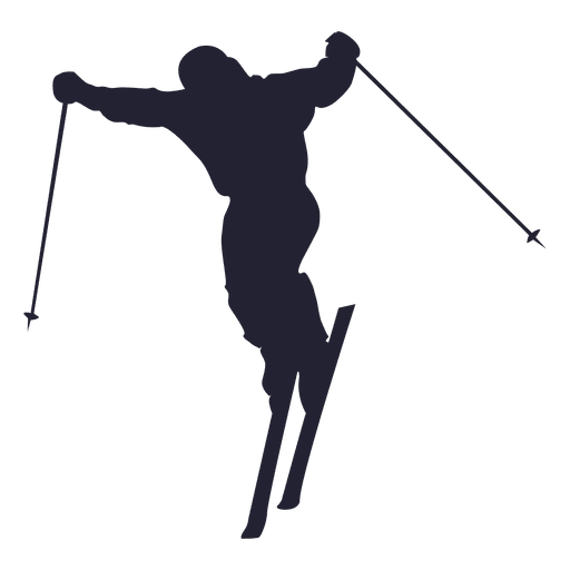 Ski player silhouette 1 Transparent PNG