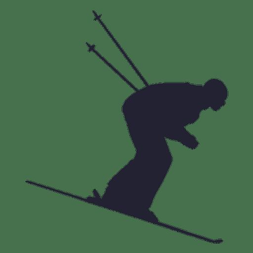 Ski player silhouette 2 Transparent PNG
