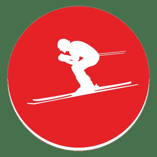 Skiing circle icon Transparent PNG