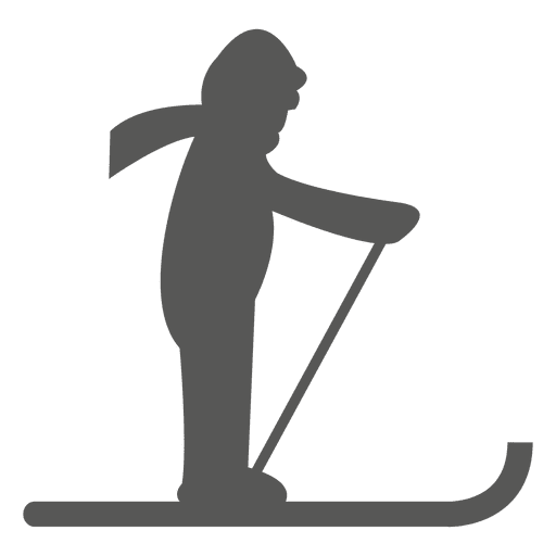 Skiing icon silhouette Transparent PNG