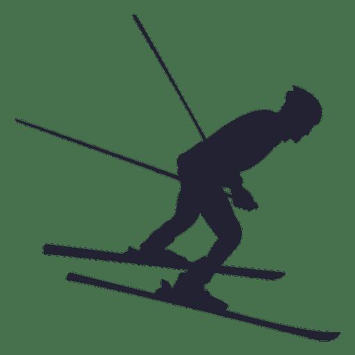 Silhueta de esporte de esqui 2 Transparent PNG