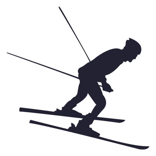 Skiing sport silhouette 2