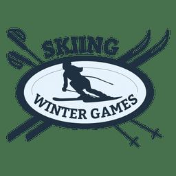 Distintivo de esportes de esqui