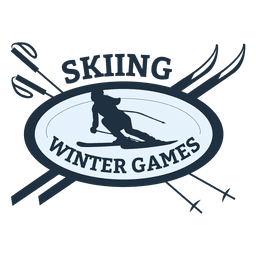 Skiing sports badge