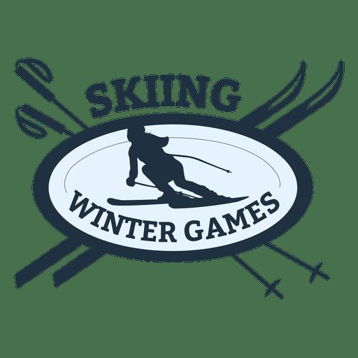 Distintivo de esportes de esqui Transparent PNG
