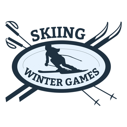 Skiing sports badge Transparent PNG