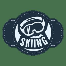 Etiqueta de deportes de esquí