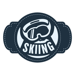 Skiing sports label