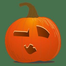 Sleepy pumpkin emoticon