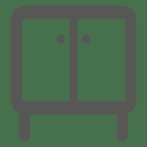 Pequeno, almirah, ícone Transparent PNG