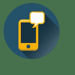 Smartphone bubble circle icon