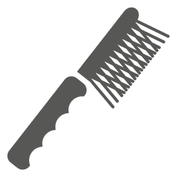 Ícone de escova de cabelo de dentes lisos