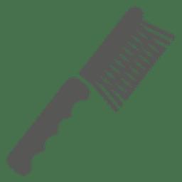 Icono de cepillo de pelo de dientes lisos