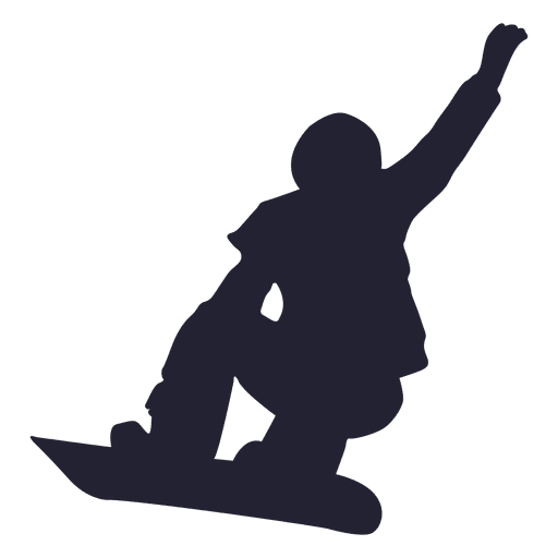 Silueta de snowboard deporte