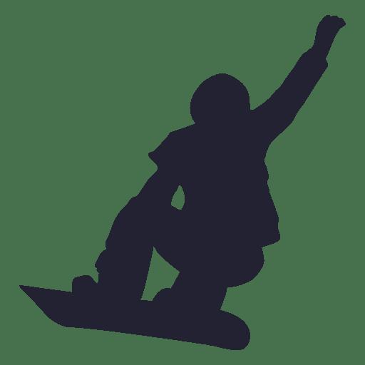 Snowboard sport silhouette