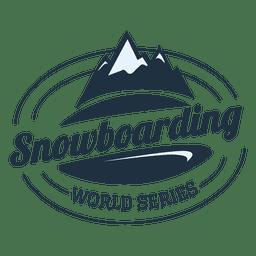 Snowboard-Label