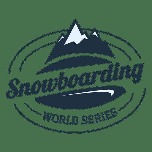 Snowboarding label Transparent PNG