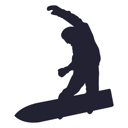 Snowboarding silhouette in blue Transparent PNG