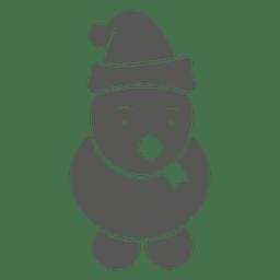 ícone dos desenhos animados do boneco de neve