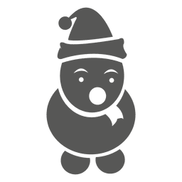 Snowman cartoon icon