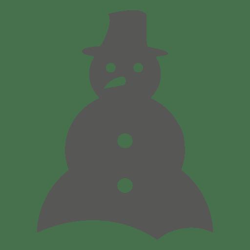 Silueta de icono de muñeco de nieve