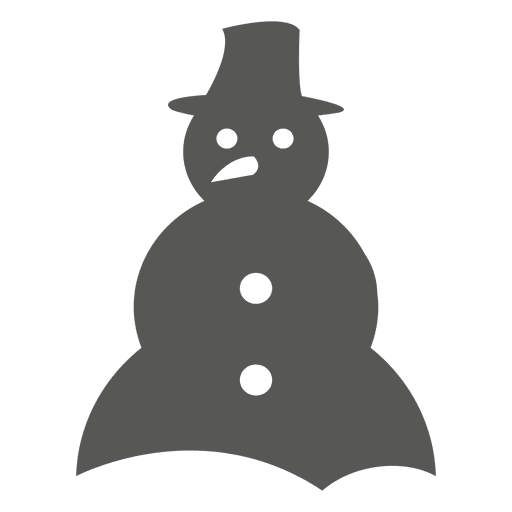 Snowman Icon Silhouette