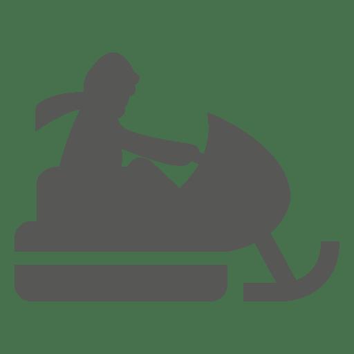 Ícone de andar de snowmobile Transparent PNG