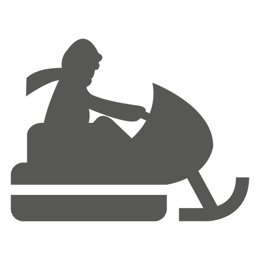 Snowmobile riding icon Transparent PNG