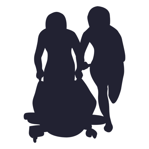 Snowmobile kids silhouette - Transparent PNG & SVG vector