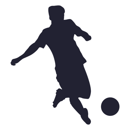Soccer ball kicking silhouette Transparent PNG