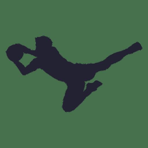 soccer goalkeeper silhouette 1