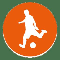 Icono de círculo de jugador de fútbol