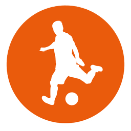 Soccer player circle icon