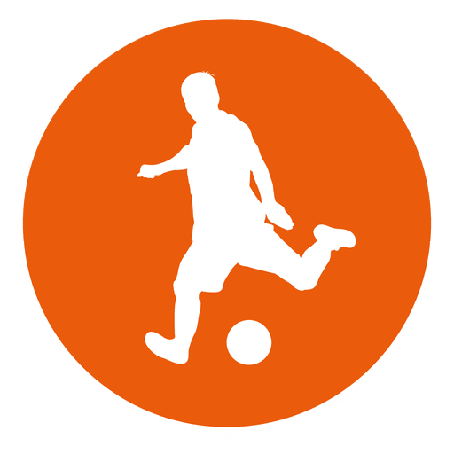 Soccer player circle icon Transparent PNG