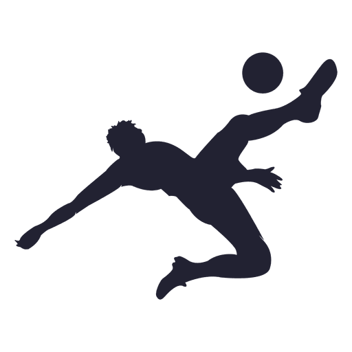 Soccer player kicking silhouette 4 Transparent PNG