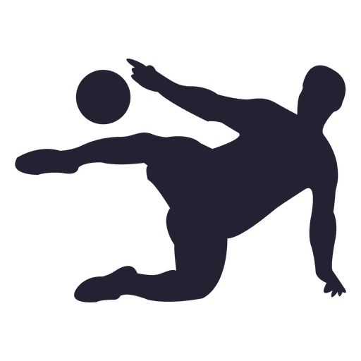 Soccer player passing silhouette Transparent PNG