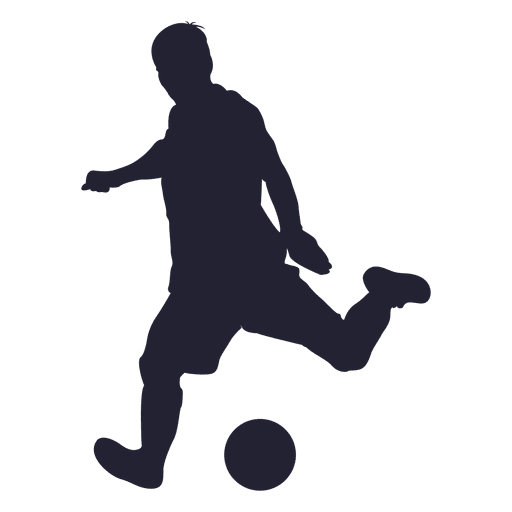 Soccer player shooting silhouette 2 Transparent PNG