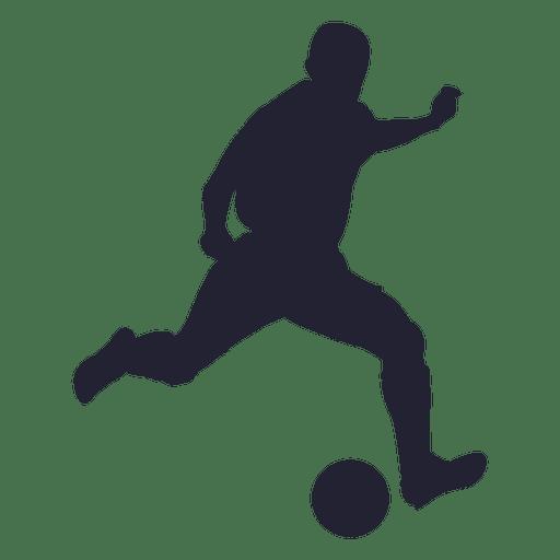 Figura de silueta de jugador de fútbol