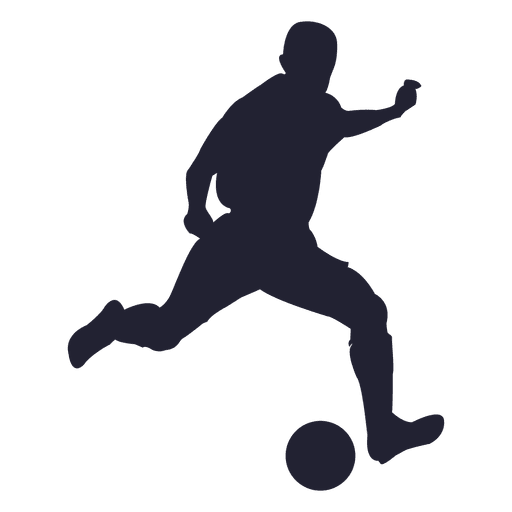 Soccer Player Silhouette Figure Transparent PNG