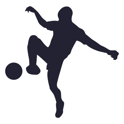 Soccer player silhouette 5 Transparent PNG