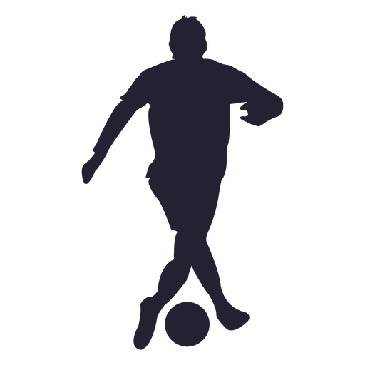 Soccer player tackling silhouette