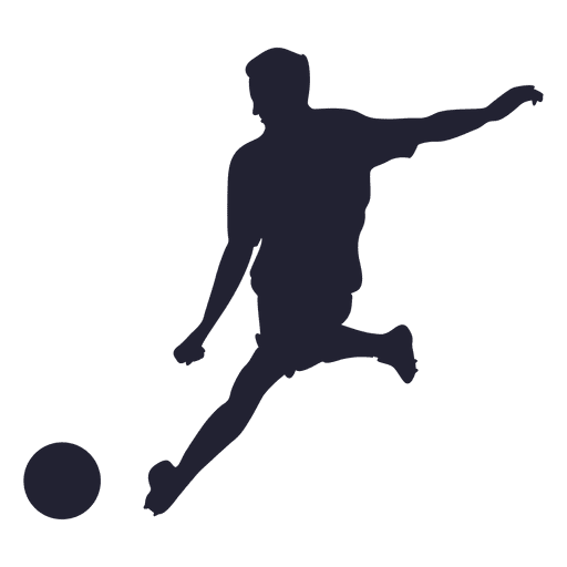 Soccer shooting silhouette Transparent PNG