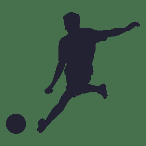 Soccer shooting silhouette