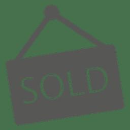 Icono de signo vendido