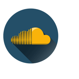 Ícone de círculo de nuvem de som