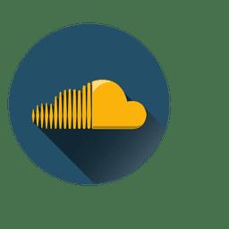 Icono de círculo de nube de sonido