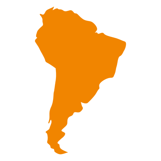 South american continental map Transparent PNG