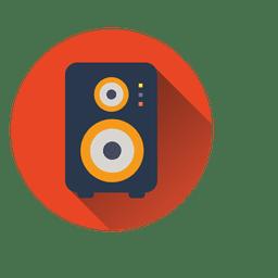 Ícone de círculo de alto-falante
