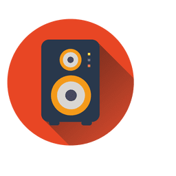 Speaker circle icon